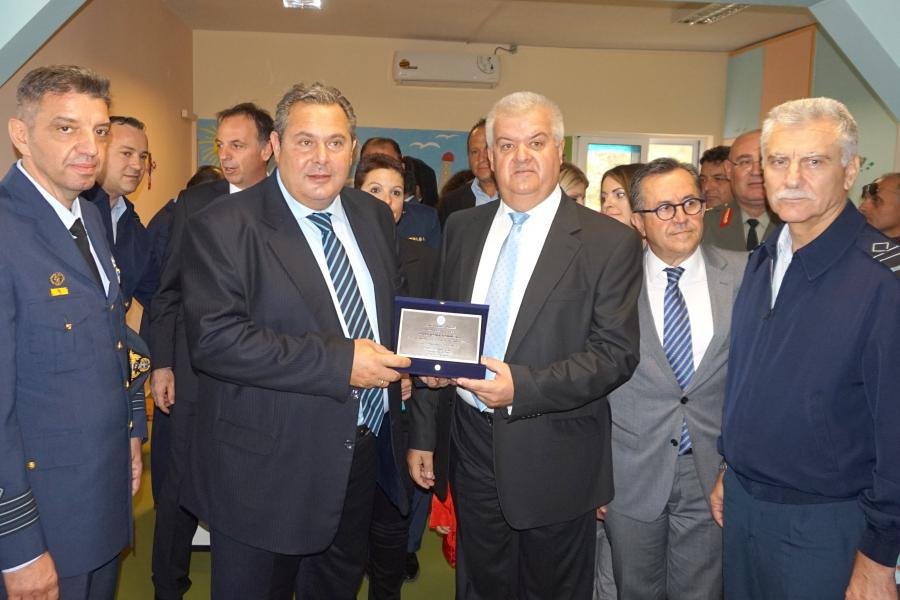 Inauguration of Day Nursery in Araxos by the Minister of National Defence Panos Kammenos
