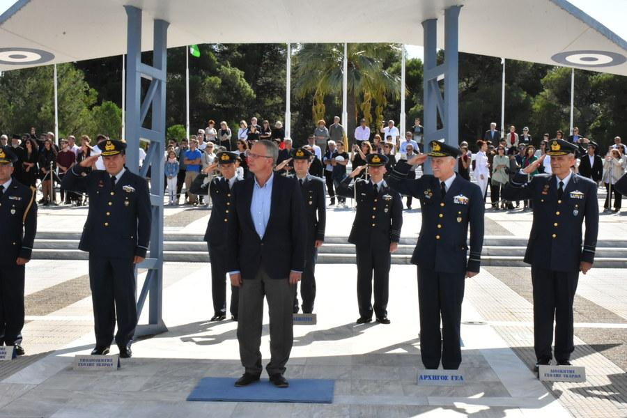 Alternate Minister of National Defence Panagiotis Rigas Attends the  Oath-Taking Ceremony of New Hellenic Air Force Academy Cadets in Dekelia  Air Base