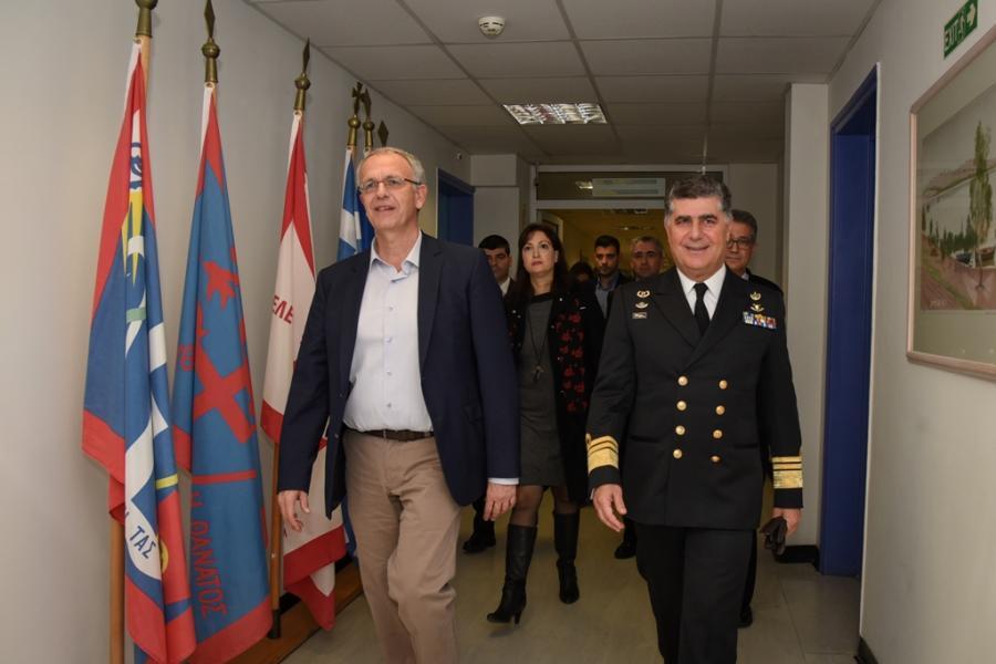 Επίσκεψη ΑΝΥΕΘΑ Παναγιώτη Ρήγα στο Ναυτικό Νοσοκομείο Αθηνών