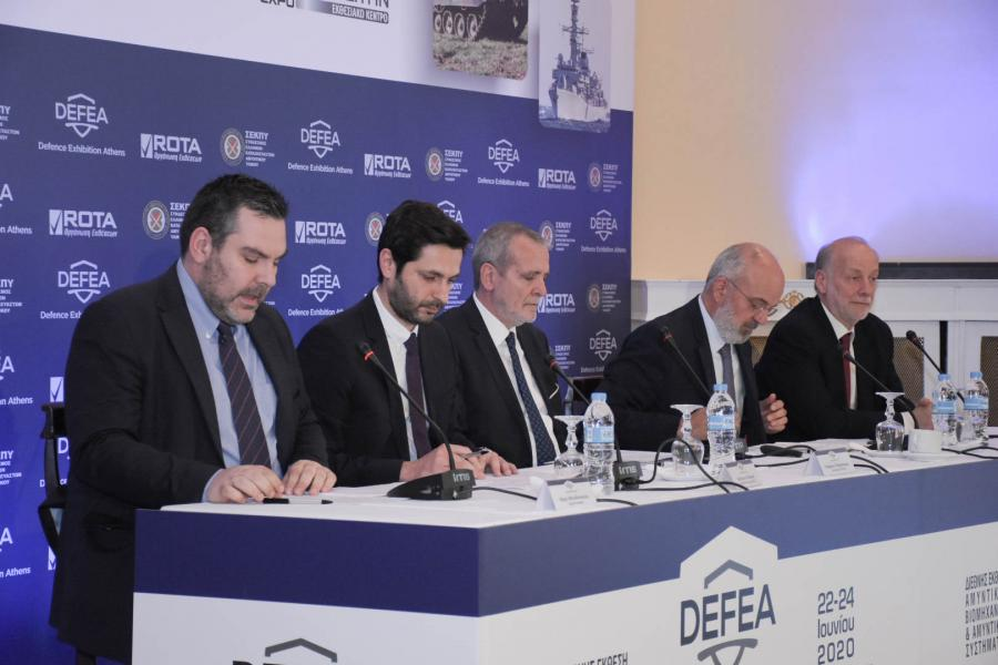 PRESENCE OF THE MINISTER OF NATIONAL DEFENCE, EVANGELOS