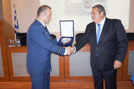 The Minister of National Defence Panos Kammenos visits the National Meteorological Service headquarters at Hellinikon
