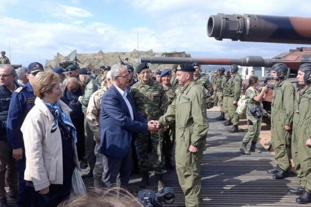 "Alternate Minister of National Defence, Panagiotis Rigas' attendance at the final stage of ""PARMENION 2018"" joint exercise"