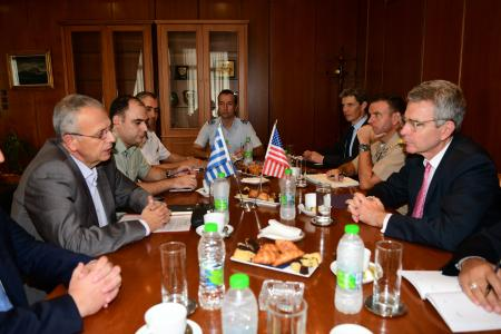 Alternate Minister of National Defence Panagiotis Rigas Meets United  States Ambassador