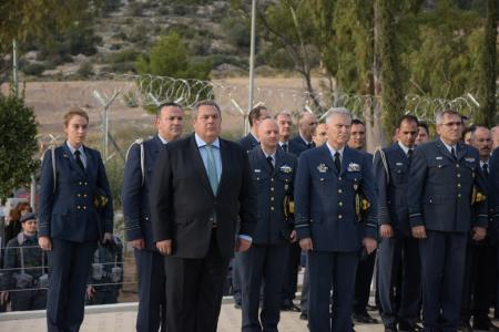 Address by the Minister of National Defence Panos Kammenos at the opening of the Air Force Cemetery in Glyfada