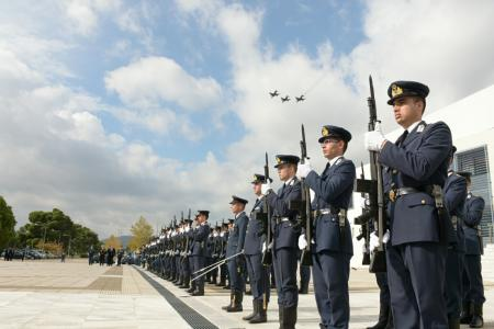 Minister of National Defence Panos Kammenos Attends the Official  Celebration for the Patron Saint of the Hellenic Air Force, Archangel  Michael