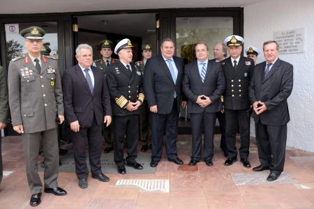 The Minister of National Defence, Panos Kammenos, at the proclamation ceremony declaring the President of the Hellenic Republic an honorary citizen of the municipality of Vari – Voula - Vouliagmeni