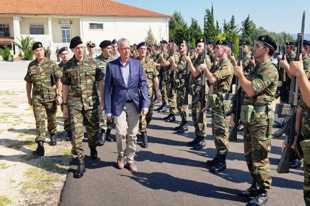 Panagiotis Rigas from Thrace: Our National Rights and the Application of International Treaties are Not Negotiable - Visit of the Alternate Minister of National Defence to Units and Formations in Xanthi.