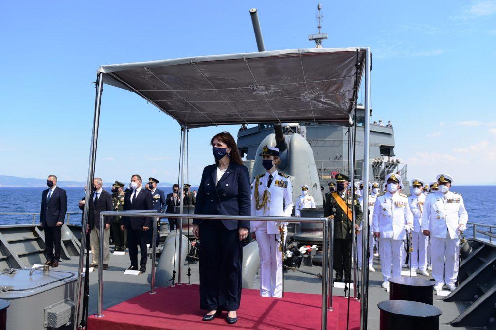 Επιθεώρηση του Στόλου απο την Α.Ε. Πρόεδρο της Δημοκρατίας παρουσία της Πολίτικης & Στρατιωτικής Ηγεσίας του ΥΠΕΘΑ