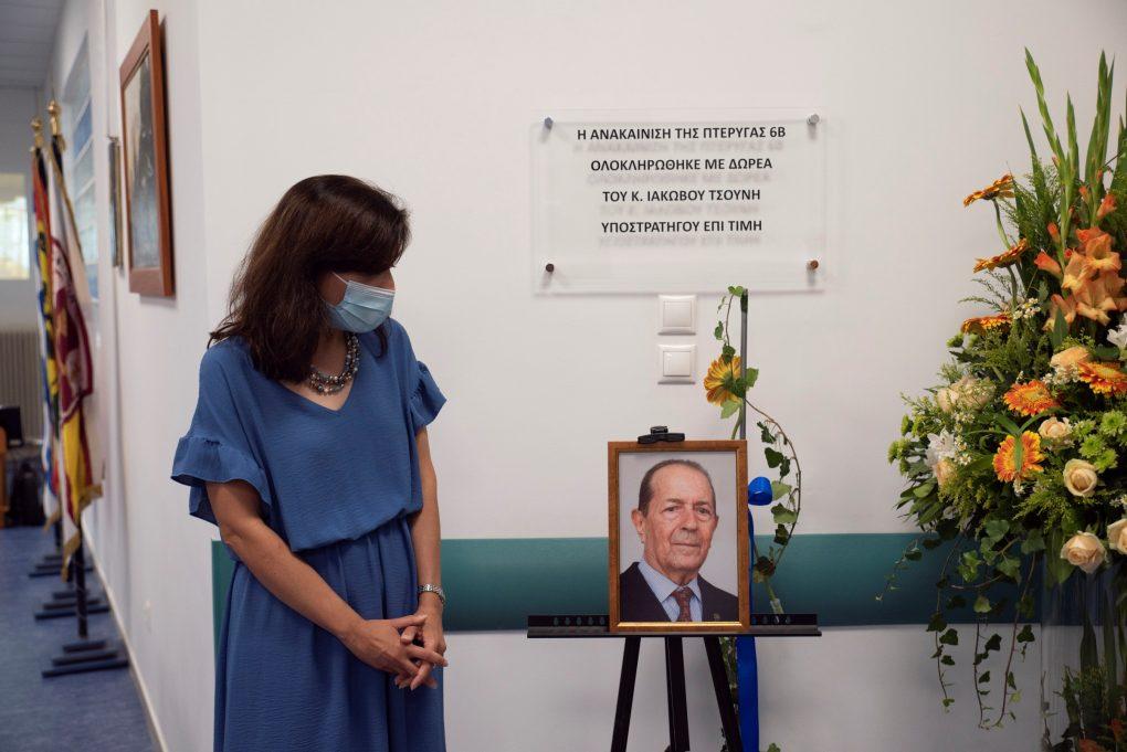 Ο ΥΕΘΑ Νικόλαος Παναγιωτόπουλος στην τελετή εγκαινίων της Νοσηλευτικής Μονάδος 6Β του 401 ΓΣΝΑ